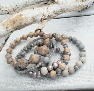 D.I.Y. Driftwood-Inspired Stacked Bracelets