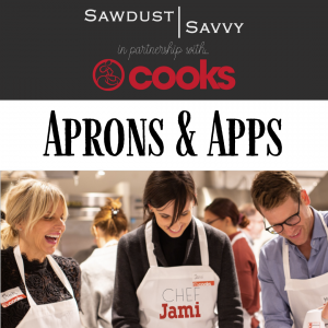Aprons & Apps // DIY Apron + Cooking Demo