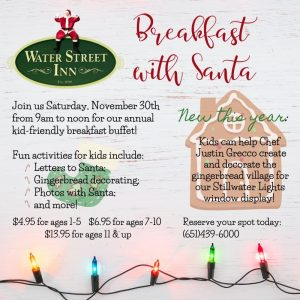Breakfast with Santa at Water Street Inn