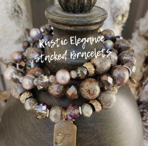Rustic Elegance - Stacked Bracelet Class