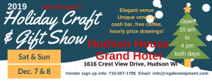 4th Annual Hudson Holiday Craft & Gift Show