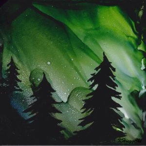 Northern Lights with Alcohol Ink Class - Take and Make - January 12th