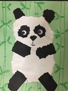 Torn Paper Pandas - Art for Kids, Grades 3-5