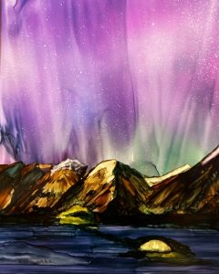 Northern Lights and Advanced Techniques with Alcohol Inks Class March 14th