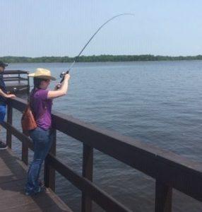 Family Fishing at Square Lake Park